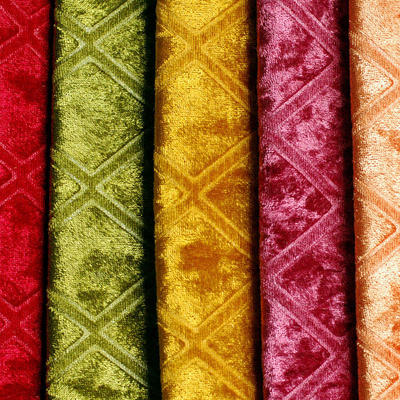 Embossed fabrics textile velvet upholstery for Sofa and Home Textile