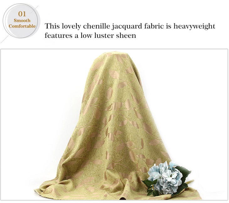 ZF090-3 jacquard chenille upholstery fabric for sofa & curtain